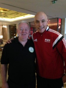 1st time i spoke to a Referee without being booked. With the Big Dog..Howard Webb