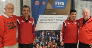 The FIFA referees Delegation sharing our Hotel in the Algarve.